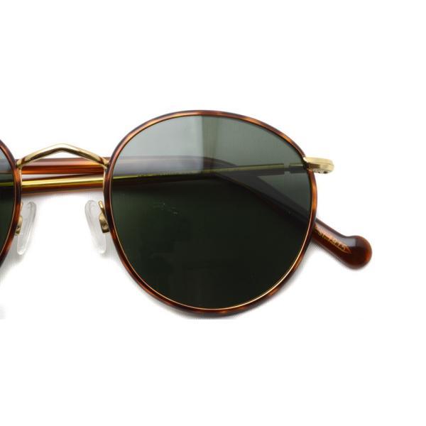 MOSCOT モスコット サングラス ZEV-Sun ゼブサン Blonde / Gold-G15 ライトトータス/ゴールド ボストンメタルサングラス|props-tokyo|04