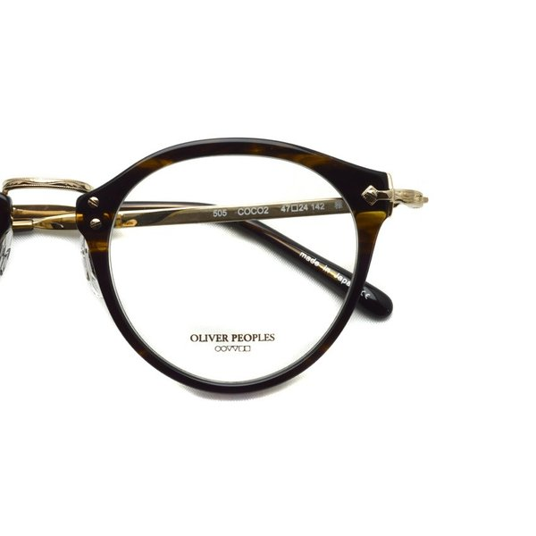 OLIVER PEOPLES オリバーピープルズ OP-505  COCO2 べっ甲柄-ゴールド 復刻モデル|props-tokyo|05