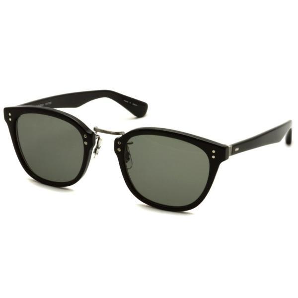 OLIVER PEOPLES オリバーピープルズ HILLERMAN BKP - Grey ブラック/アンティークシルバー-ダークグレーサングラス|props-tokyo