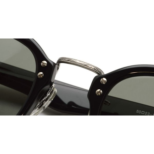 OLIVER PEOPLES オリバーピープルズ HILLERMAN BKP - Grey ブラック/アンティークシルバー-ダークグレーサングラス|props-tokyo|04