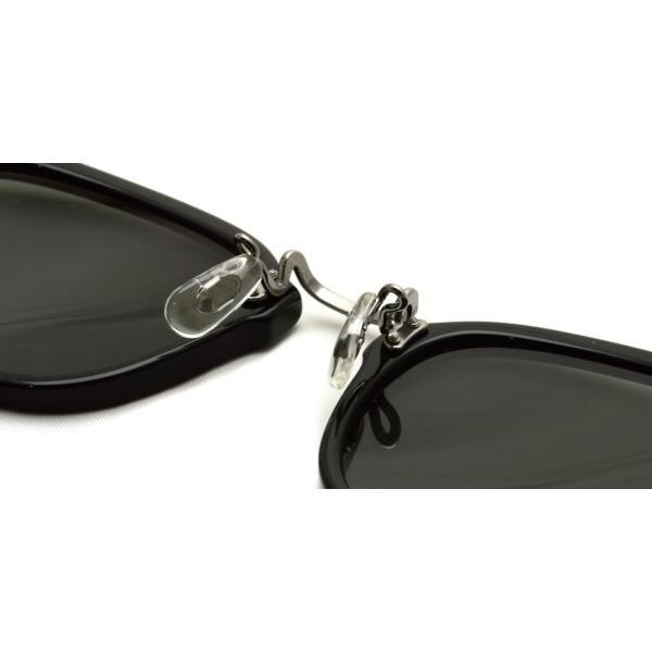 OLIVER PEOPLES オリバーピープルズ HILLERMAN BKP - Grey ブラック/アンティークシルバー-ダークグレーサングラス|props-tokyo|06