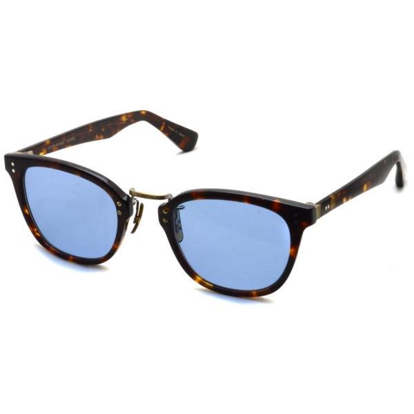 OLIVER PEOPLES オリバーピープルズ HILLERMAN DM2 - BLUE  べっ甲柄-ブルーレンズサングラス|props-tokyo
