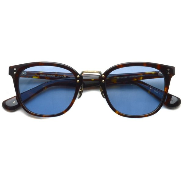 OLIVER PEOPLES オリバーピープルズ HILLERMAN DM2 - BLUE  べっ甲柄-ブルーレンズサングラス|props-tokyo|02