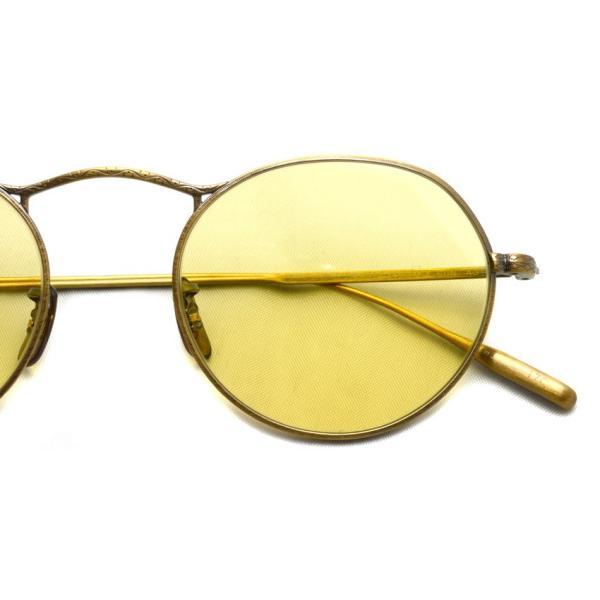 OLIVER PEOPLES オリバーピープルズ M-4 SUN  Antique Gold - Yellow WASH  アンティークゴールド - イエローレンズ(ガラスレンズ)|props-tokyo|05