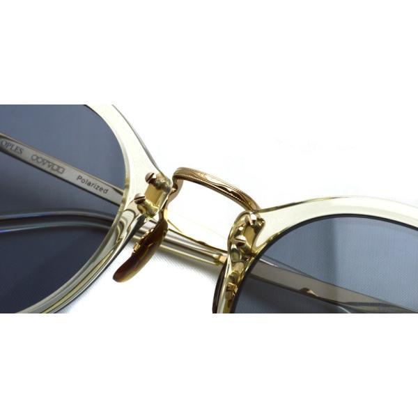 OLIVER PEOPLES オリバーピープルズ OP-505 Sun BECR/ Light Blue Polar クリア / ゴールド / ライトブルー偏光レンズ サングラス|props-tokyo|06