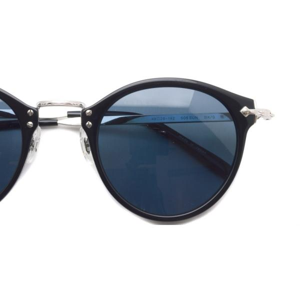 OLIVER PEOPLES オリバーピープルズ OP-505 Sun BKS/BLUE Polar ブラック / シルバー / ブルー偏光レンズ サングラス|props-tokyo|04