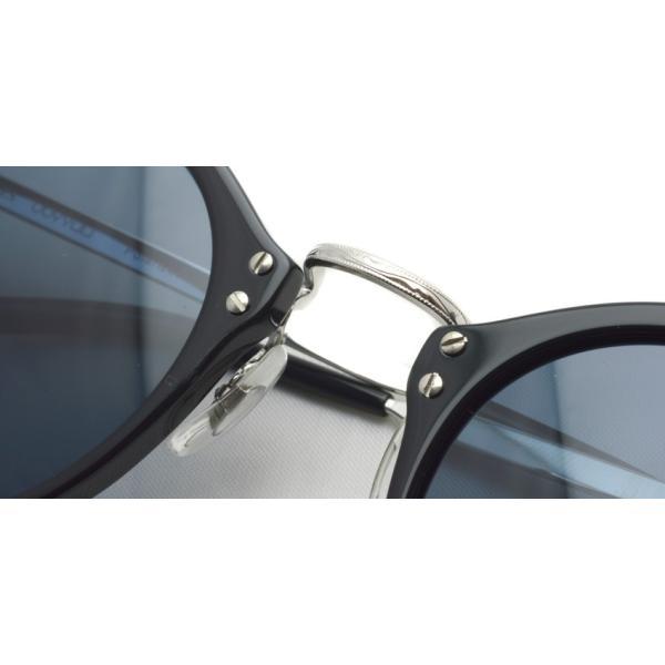 OLIVER PEOPLES オリバーピープルズ OP-505 Sun BKS/BLUE Polar ブラック / シルバー / ブルー偏光レンズ サングラス|props-tokyo|07