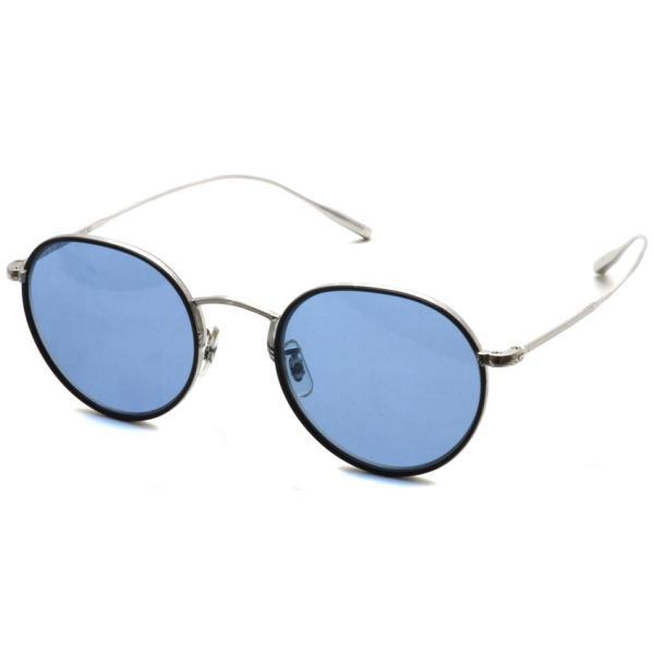 OLIVER PEOPLES オリバーピープルズ ROSSEN  Silver/Black - Blue シルバー/ブラック - ブルーレンズ|props-tokyo