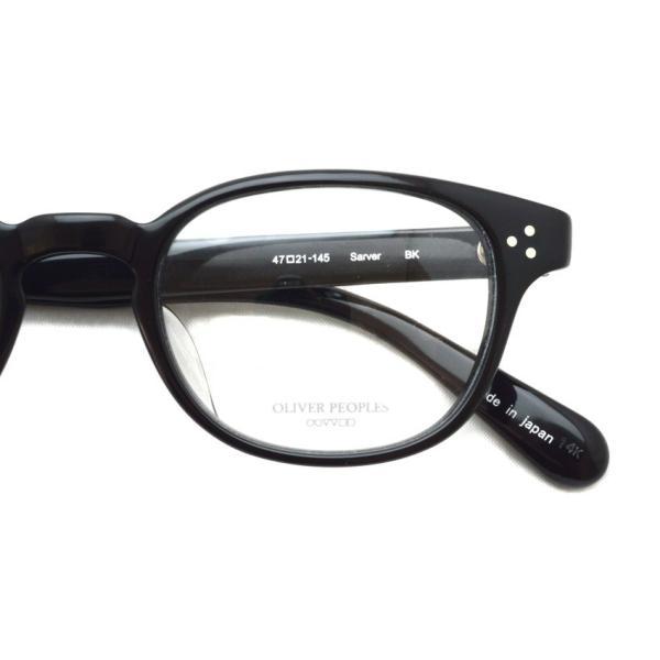 OLIVER PEOPLES オリバーピープルズ SARVER  BK  ブラック ボストンウェリントンフレーム|props-tokyo|04