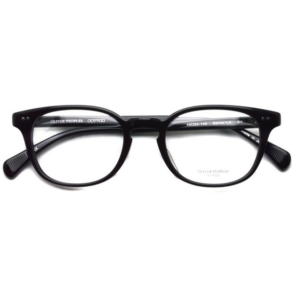 OLIVER PEOPLES オリバーピープルズ SARVER - LA BK ブラック 黒ブチフレーム|props-tokyo|02