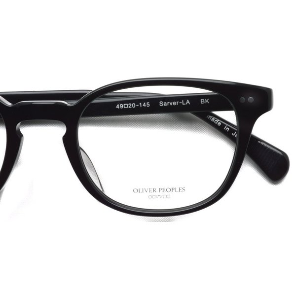 OLIVER PEOPLES オリバーピープルズ SARVER - LA BK ブラック 黒ブチフレーム|props-tokyo|04
