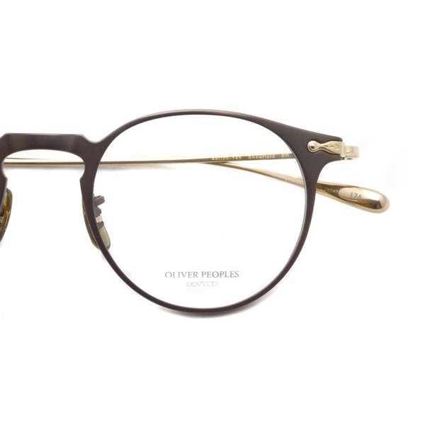 OLIVER PEOPLES オリバーピープルズ SHAWFIELD BROWN ブラウン-ゴールド  メガネ フレーム|props-tokyo|04