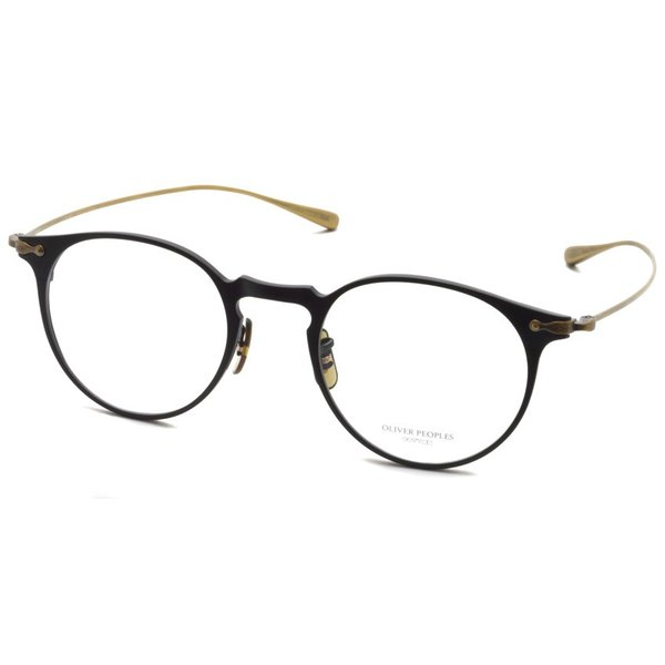 OLIVER PEOPLES オリバーピープルズ SHAWFIELD MATTE BLACK  マットブラック-アンティークゴールド メガネ フレーム|props-tokyo