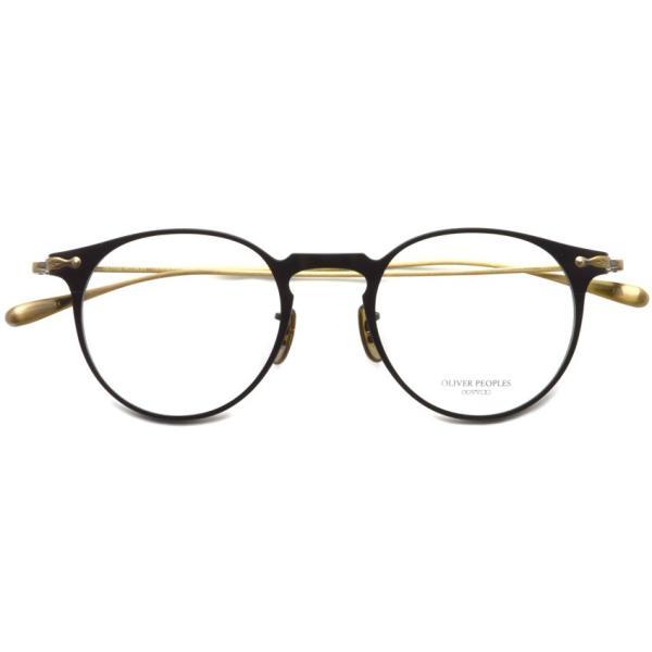 OLIVER PEOPLES オリバーピープルズ SHAWFIELD MATTE BLACK  マットブラック-アンティークゴールド メガネ フレーム|props-tokyo|02