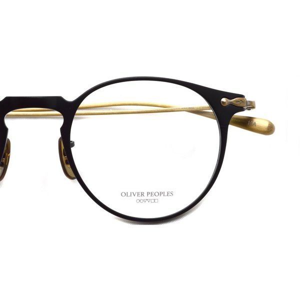 OLIVER PEOPLES オリバーピープルズ SHAWFIELD MATTE BLACK  マットブラック-アンティークゴールド メガネ フレーム|props-tokyo|04