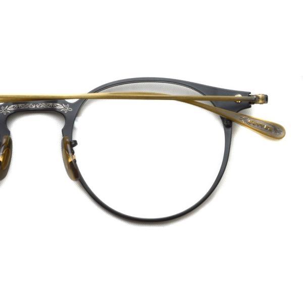 OLIVER PEOPLES オリバーピープルズ SHAWFIELD MATTE BLACK  マットブラック-アンティークゴールド メガネ フレーム|props-tokyo|05
