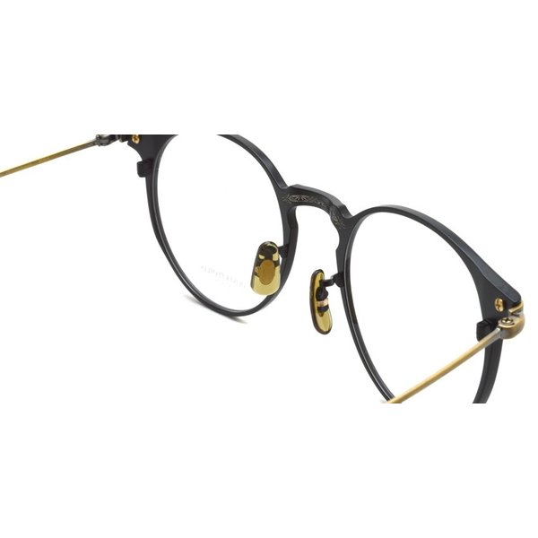 OLIVER PEOPLES オリバーピープルズ SHAWFIELD MATTE BLACK  マットブラック-アンティークゴールド メガネ フレーム|props-tokyo|06