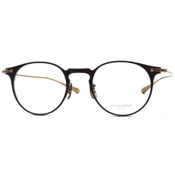 OLIVER PEOPLES オリバーピープルズ SHAWFIELD MATTE BLACK  マットブラック-アンティークゴールド メガネ フレーム|props-tokyo|08