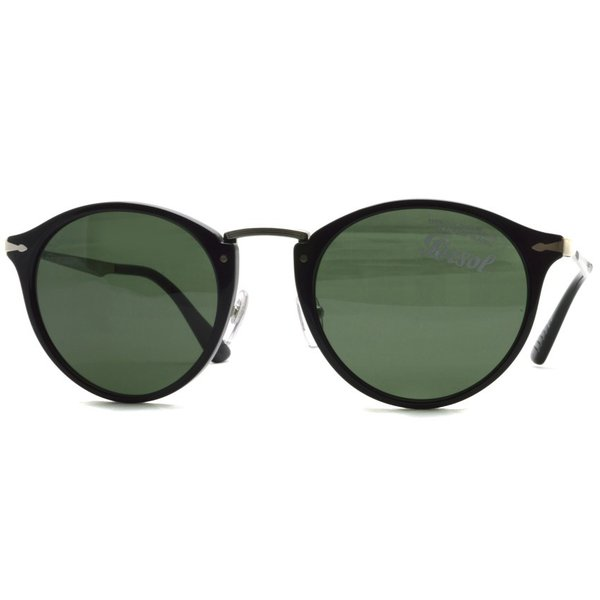 Persol ペルソール サングラス 3166S 95/31 ブラック/シルバー-ダークグリーンレンズ  イタリア製 国内正規品 【送料無料】|props-tokyo|09