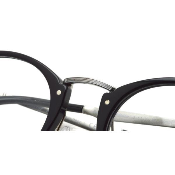 Persol ペルソール メガネフレーム 3167V  95 ブラック/シルバー カリグラファーエディション ボストンラウンドコンビネーション イタリア製 国内正規品|props-tokyo|08