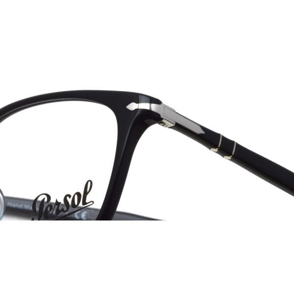 Persol ペルソール メガネフレーム 3189V アジアンフィット  95 ブラック 黒縁ウェリントン イタリア製 国内正規品|props-tokyo|04