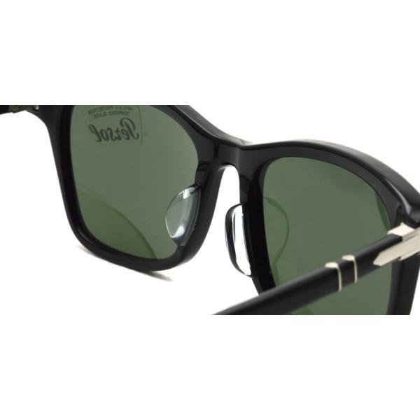 Persol ペルソール  3192S アジアンフィット 95/31 ブラック-ダークグリーンガラスレンズ ウェリントンサングラス イタリア製 国内正規品|props-tokyo|07