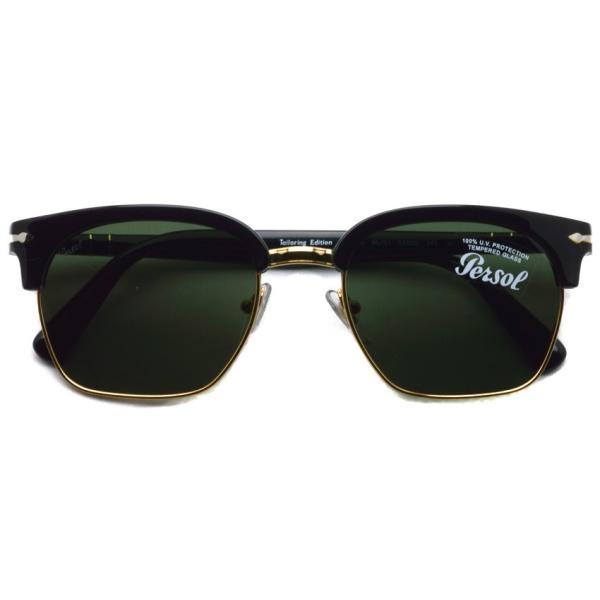 Persol ペルソール 3199S Tailoring Edition 95/31 ブラック/ゴールド-ダークグリーンガラスレンズ イタリア製 サーモントブローサングラス国内正規品|props-tokyo|02