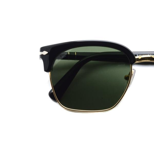 Persol ペルソール 3199S Tailoring Edition 95/31 ブラック/ゴールド-ダークグリーンガラスレンズ イタリア製 サーモントブローサングラス国内正規品|props-tokyo|03