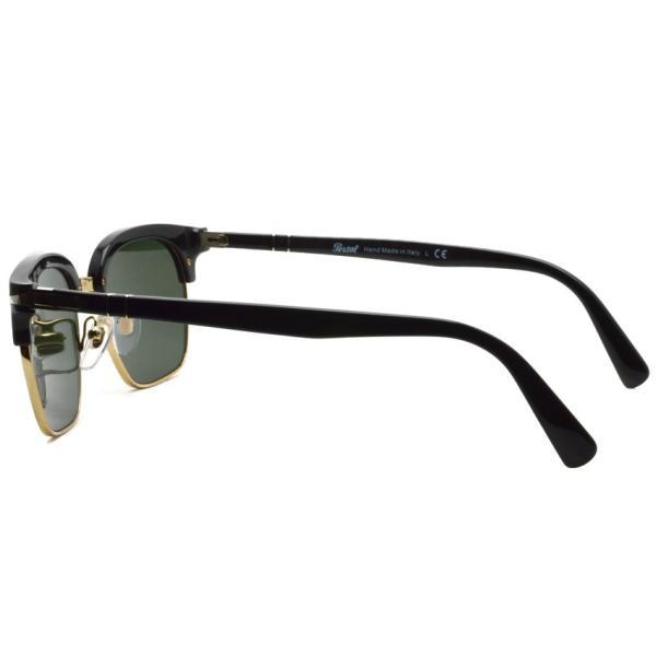 Persol ペルソール 3199S Tailoring Edition 95/31 ブラック/ゴールド-ダークグリーンガラスレンズ イタリア製 サーモントブローサングラス国内正規品|props-tokyo|06