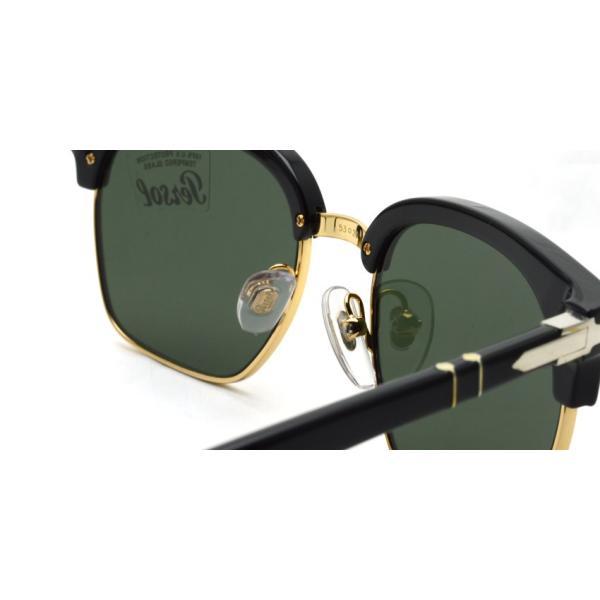 Persol ペルソール 3199S Tailoring Edition 95/31 ブラック/ゴールド-ダークグリーンガラスレンズ イタリア製 サーモントブローサングラス国内正規品|props-tokyo|07