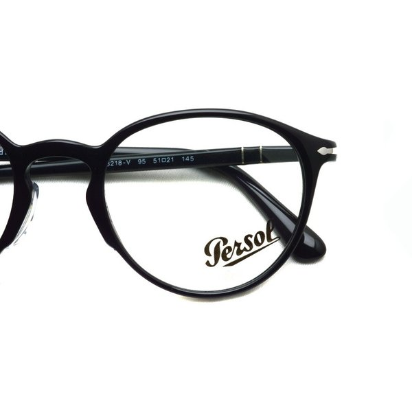 Persol ペルソール メガネフレーム 3218V アジアンフィット  95 ブラック 黒縁ボストン イタリア製 国内正規品|props-tokyo|03