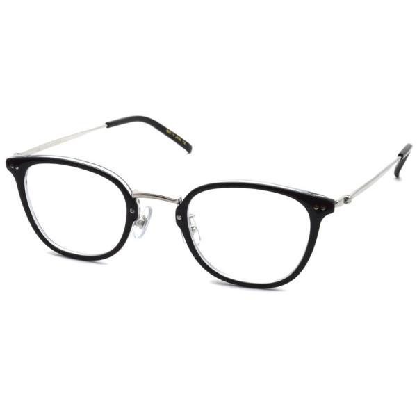 STEADY ステディ STD-50 カラー:1 Black/Clear - Silver  ブラック/クリア - シルバー メガネフレーム【送料無料】|props-tokyo