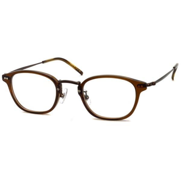 STEADY ステディ STD-70 カラー:4 Brown - BrownMetal  ブラウン - ブラウンメタル コンビネーション メガネフレーム|props-tokyo