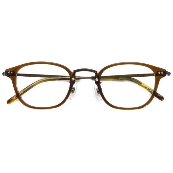 STEADY ステディ STD-70 カラー:4 Brown - BrownMetal  ブラウン - ブラウンメタル コンビネーション メガネフレーム|props-tokyo|02