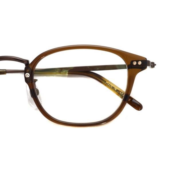 STEADY ステディ STD-70 カラー:4 Brown - BrownMetal  ブラウン - ブラウンメタル コンビネーション メガネフレーム|props-tokyo|03