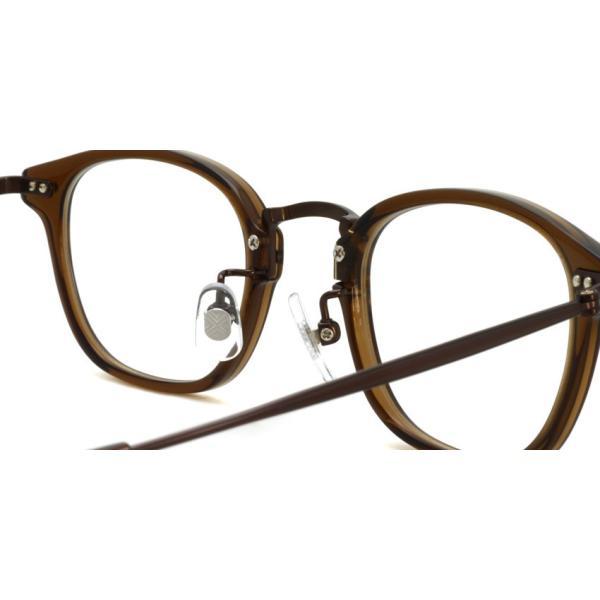 STEADY ステディ STD-70 カラー:4 Brown - BrownMetal  ブラウン - ブラウンメタル コンビネーション メガネフレーム|props-tokyo|05