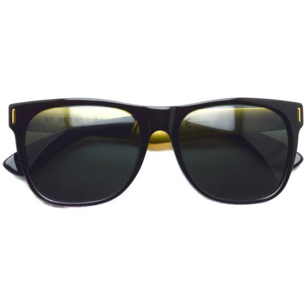 SUPER BY RETROSUPERFUTURE サングラス CLASSIC クラシック 202 ブラック/ゴールド-ダークグレーレンズ R(55)サイズ|props-tokyo|02