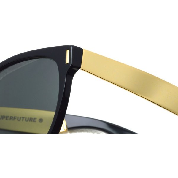 SUPER BY RETROSUPERFUTURE サングラス CLASSIC クラシック 202 ブラック/ゴールド-ダークグレーレンズ R(55)サイズ|props-tokyo|05