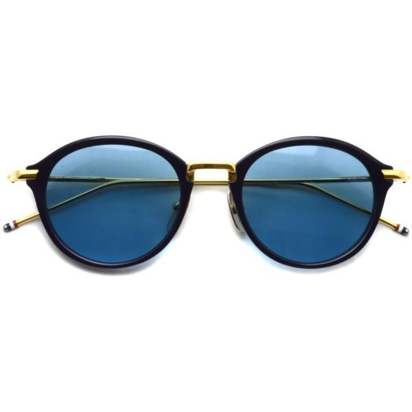 トムブラウン サングラス THOM BROWNE. TB-011 サイズ:49 Navy-Shiny 18K Gold-Dark Blue ネイビー・K18 ゴールド・ダークブルーレンズ 国内正規品【送料無料】|props-tokyo|02