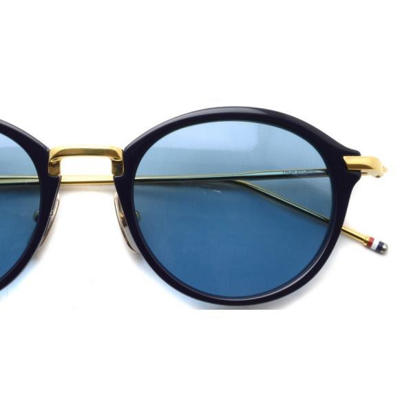 トムブラウン サングラス THOM BROWNE. TB-011 サイズ:49 Navy-Shiny 18K Gold-Dark Blue ネイビー・K18 ゴールド・ダークブルーレンズ 国内正規品【送料無料】|props-tokyo|04