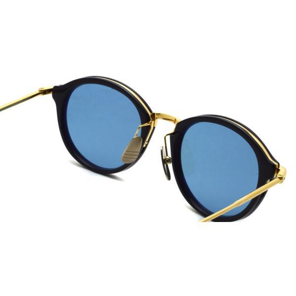 トムブラウン サングラス THOM BROWNE. TB-011 サイズ:49 Navy-Shiny 18K Gold-Dark Blue ネイビー・K18 ゴールド・ダークブルーレンズ 国内正規品【送料無料】|props-tokyo|06