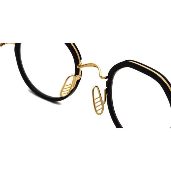 トムブラウン メガネ THOM BROWNE. TB-911 Black-White Gold ブラック-ホワイトゴールド ラウンドメタル|props-tokyo|09