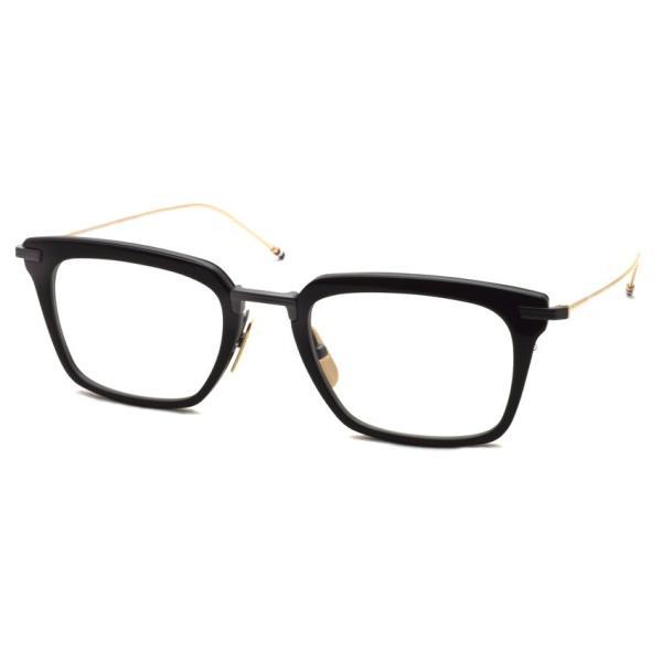 トムブラウン メガネ THOM BROWNE. TB-916 Black-Black Iron-White Gold ブラック-ブラックアイアン-ホワイトゴールドテンプル 【送料無料】 props-tokyo