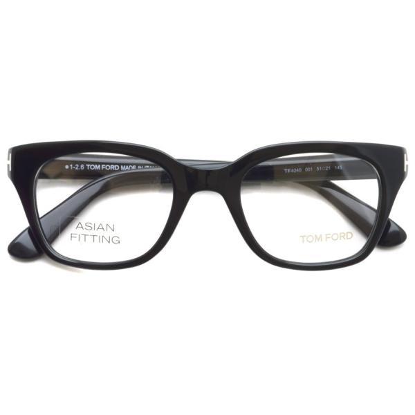 トムフォード TOM FORD TF4240 001 Black ブラック アジアンフィット 黒縁 メガネ フレーム 国内正規品【送料無料】|props-tokyo|02