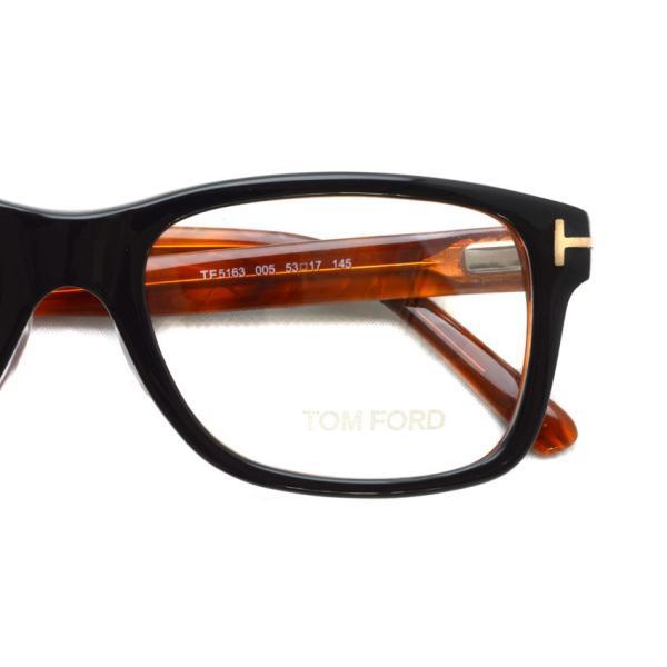 トムフォード TOM FORD TF5163 005 Black/Red tortoise ブラック/レッドトータス 黒縁 メガネ フレーム 国内正規品【送料無料】 props-tokyo 04
