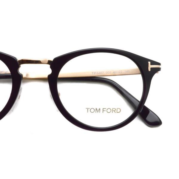 トムフォード TOM FORD TF5467 48size 001 Black/Gold ブラック-ゴールド コンビネーションウェリントン メガネ フレーム 国内正規品 今市隆二さん着用|props-tokyo|03