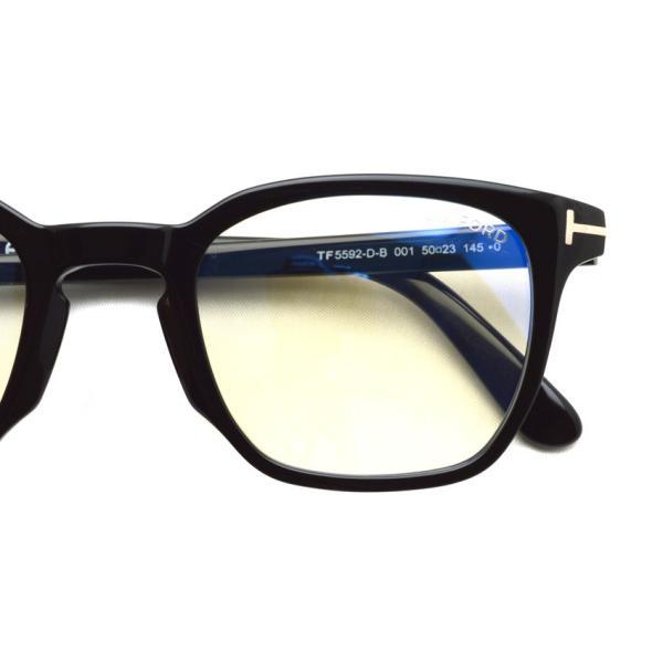 トムフォード TOM FORD TF5592-D-B 001 Black  アジアンフィッテイング ブラック-ブルーライトカットレンズ メガネ フレーム 国内正規品【送料無料】|props-tokyo|03