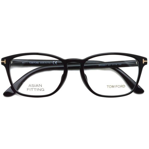 トムフォード TOM FORD TF5355F 001 Black ブラック アジアンフィット 黒縁 メガネ フレーム 国内正規品【送料無料】|props-tokyo|02
