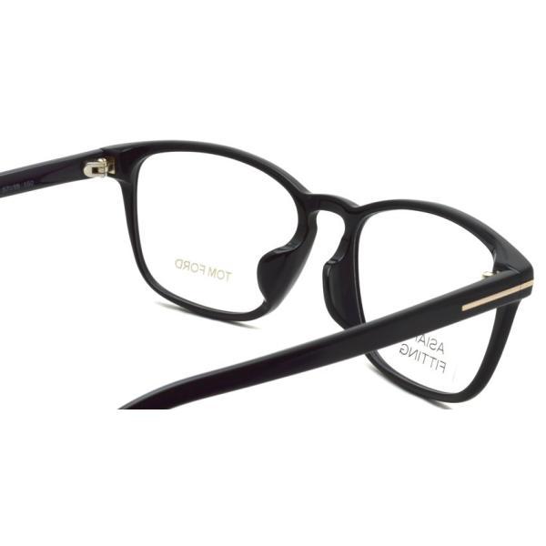 トムフォード TOM FORD TF5355F 001 Black ブラック アジアンフィット 黒縁 メガネ フレーム 国内正規品【送料無料】|props-tokyo|04