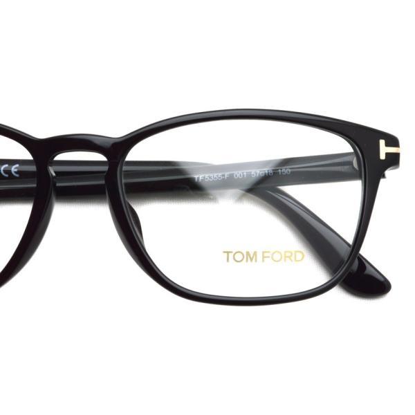 トムフォード TOM FORD TF5355F 001 Black ブラック アジアンフィット 黒縁 メガネ フレーム 国内正規品【送料無料】|props-tokyo|05
